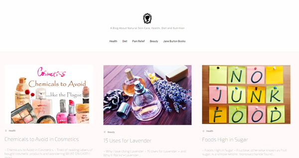 PrimeNaturalBeauty.com - Natural Foods, Diet, Nutrition & Beauty. Big Info Content Website, 26K Facebook