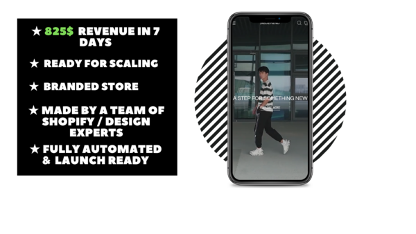 Redemend - Branded Ecommerce Store With Clean & Modern Design Made By Professional Webdesign team. $825 Revenue Generated In 7 Days. Everything Is Automated.