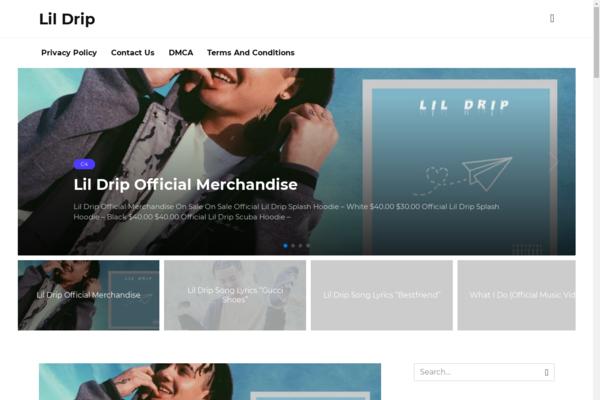 realildrip.com - Fan site of the rap artist on wordpress