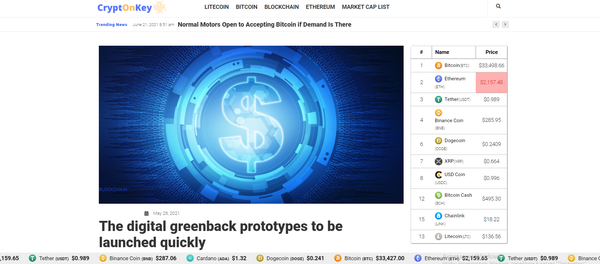 cryptonkey.com - Crypto Automated with Articles Rewriter Blog Site News. Get Organic Traffic!