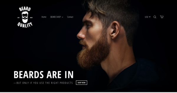 BeardQuality.com - Ready To Go Beard Store| Dropshipping Worldwide | New User Friendly | Automated Fulfilment | Premium Domain worth $1,366|Password: 123