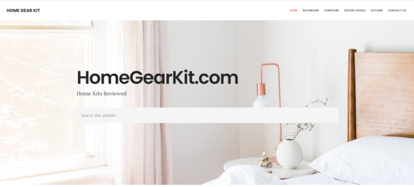 homegearkit.com - A 4-year old home improvement based affiliate site. Total 10K+ earning in 2020