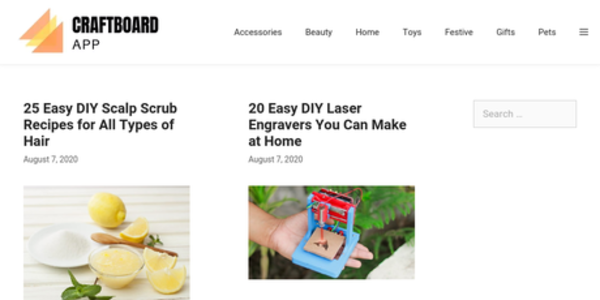 Craftboard.app - A DIY listicle site generating autopilot Adsense income (12k sessions/mo, $17/mo)
