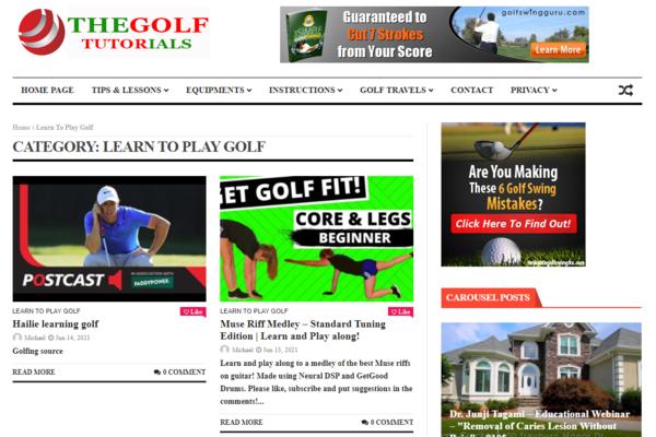 thegolftutorials.com - KILLER DESIGN ! 100% Automated Golf Video Tutorial Website- ZERO WORK