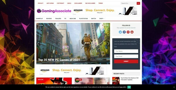 GamingAssociate.com - 100% Autopilot & Automated Gaming Niche Site To Make Money Online From Amazon Ads, Affiliate Links - 200 Amazon Products Imported