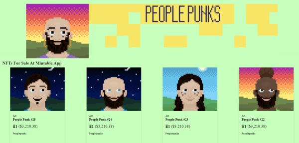 PeoplePunks.xyz - People Punks NFT - Original NFT Art Collection - No Reserve Listing! Make $80K