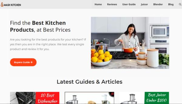 mashkitchen.com - 1 Year 45 Days Old + Established Amazon Affiliate Niche site is For Sale