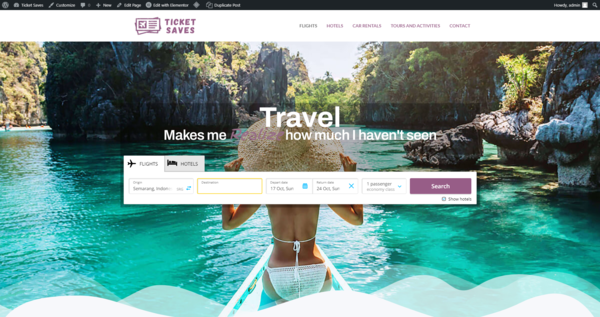 TicketSaves.com - Automated Affiliate Travel Deals Site with a Premium Domain - A Flights And Hotels Affiliation Website With A Very Short Domain. Up To $4K Income Potential