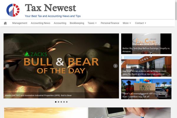 TaxNewest.com - 100% Automated, Premium Design, Tax & Accounting Website, Amazon,CB, BIN Bonus