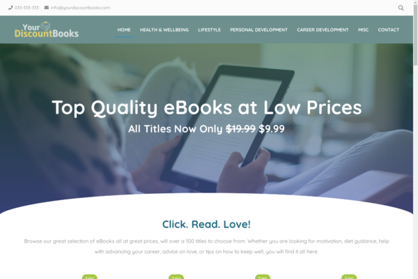 YourDiscountBooks.com - Fully Stocked eBook Store, Passive Income Potential, Premium Domain