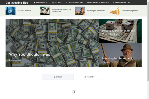 GetInvestingTips.com - Hot Niche! - Investment Advice Blog - Amazon Ads! - BIN Bonuses!