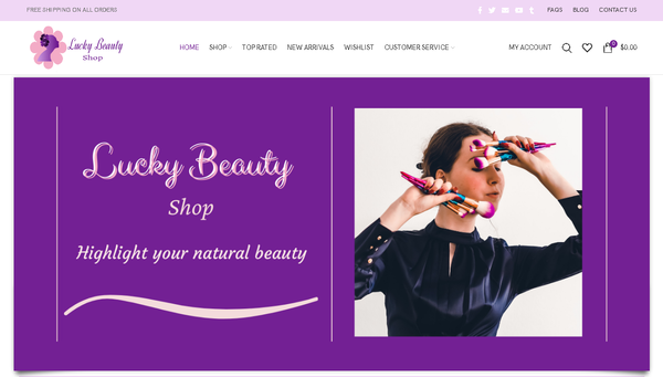 luckybeautyshop.com - Automated Store, SEO Backlinks $4,500/Mo Potential, 12-years Domain -NO RESERVE!