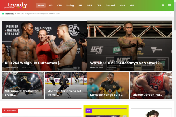 trendysportsnews.info - 100% Fully Automatic Sports News Wordpress Website, High Earning Potential
