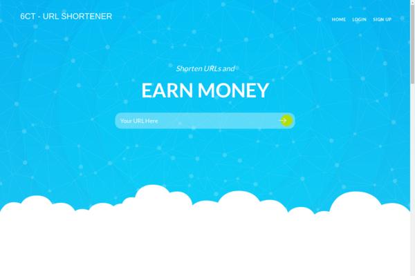 6ct.org - Get your own smart links platform and shorten URLs; good revenue 100% Autopilot.