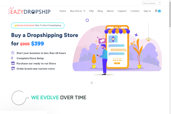 EazyDropship.com - EazyDropship.com Fully Outsourced Dropship Store Selling Business for Sale