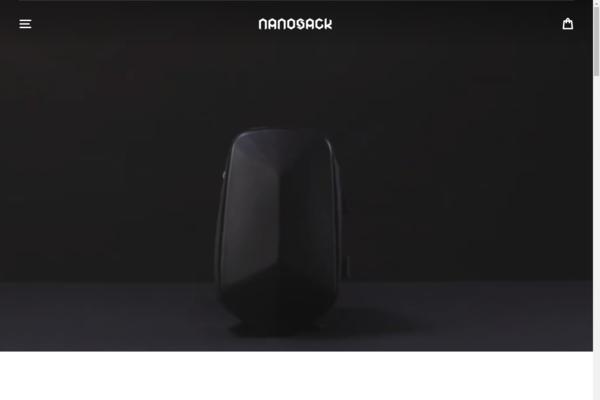 nanosack.com - Techwear Backpack Business | Branded Shopify One Product Store