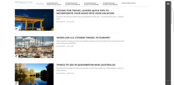 99traveltips.com - Advertising / Travel