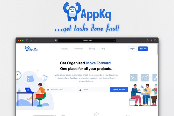 AppKq.com - AppKq.com - a project management SaaS platform with highly scalable architecture