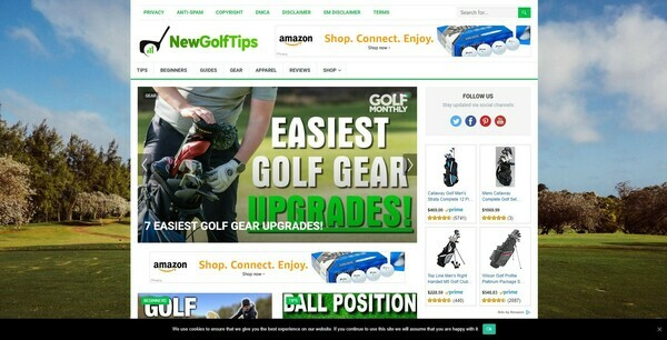 NewGolfTips.com - Automated Amazon Golf Niche Blog To Make Money Online, Earn Up To $5k/mo