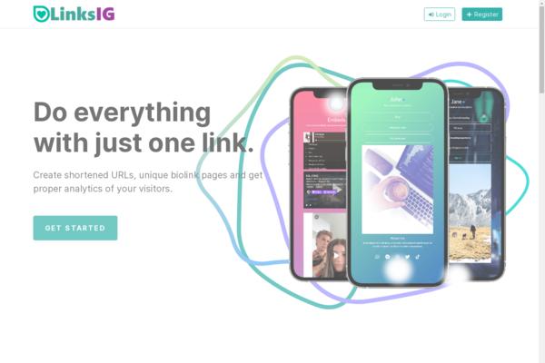 LinksIG.com - Instagram, TikTok for Bio Links and URL Shortener With SaaS Ready