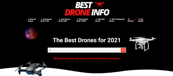 bestdroneinfo.com - Premium Best Drones Review Amazon Affiliate Website.Potential Earn up to 5k $/mo