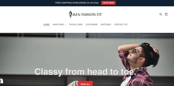 MenFashionFit.com - Men Fashion Dropship Store-Pro Design-Pvt IG Marketing Trick-$1.5KBINBonus