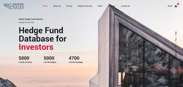 hedgesales.com - Hedgesales.com The Largest Hedge Fund & Investors Database
