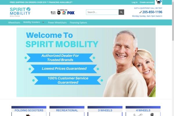spiritmobility.com - $10,500 Rev Last Year on 6 Orders - USA Suppliers - 5 Day Shipping - $1,750 AOV