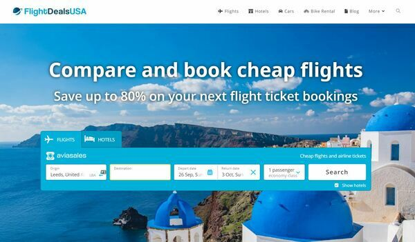 FlightDealsUSA.com - Automated Travel Site, Highly Desirable Domain, Multiple Currencies, Compares 1000s of Flights / Hotels & Earn Affiliate Commission, AFFILIATE ACCOUNT INCLUDED
