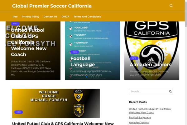 gps-california.com - Sports site. Soccer California. Made in 2016 on WordPress.