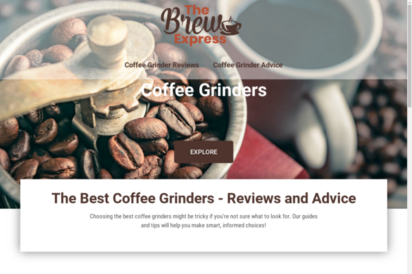 thebrewexpress.com - Title: Coffee Grinders | Content Site | Affiliate Marketing, Ads & More!