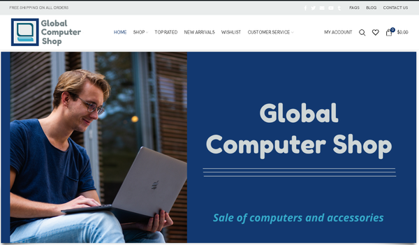 globalcomputershop.com - Automated Store, SEO Backlinks $4,500/Mo Potential, 19-years Domain -NO RESERVE!
