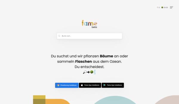 fa.me search engine - An innovative Search portal which can be used as a website, chrome extension, or mobile app that generates revenue for every search made.