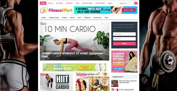 FitnessEffort.com - Autopilot ClickBank Fitness & Health Blog To Make Money Online, Earn Up To $5k/m