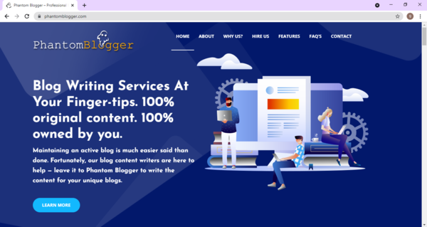 Phantom Blogger - Earn profits at your leisure with a newbie friendly, easily managed, fully set-up eCommerce website. Premium Domain worth $1,181. Complete training supplied.