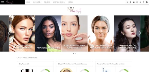 nubeautyskincare.com - Evergreen Amazon Affiliate Site - Exceptional Design - Huge Potential