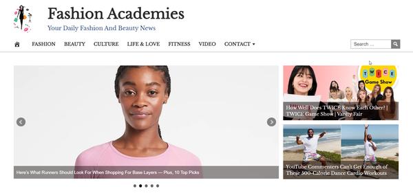 FashionAcademies.com - 100% Automated FASHION Site, Amazon & Ad income + BIN Bonus