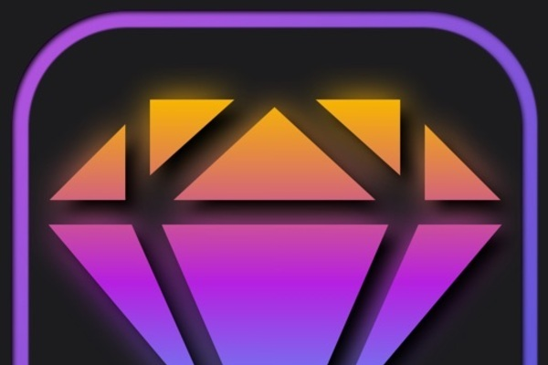 Lucky Diamonds - Slots Machine style iOS Game + Cyberpunk design