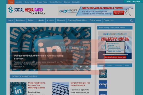 SocialMediaRapid.com - Social Media Site-Lucrative Niche-Pro Design-$1.5KBINBonus-NEWBIE Friendly