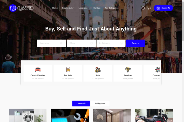 funclassified.com - Create your own Classified Ads Portal, Car Classified, Real Estate Classified