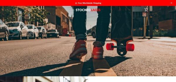 stockedlaces.com - E-commerce / Footwear