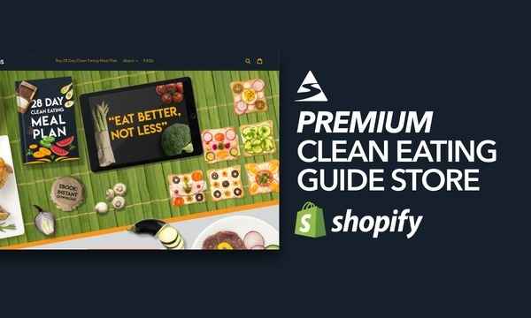 EatCleanPlans.com - Ecommerce Shopify Starter Store For Sale Specialising in the Clean Eating Niche