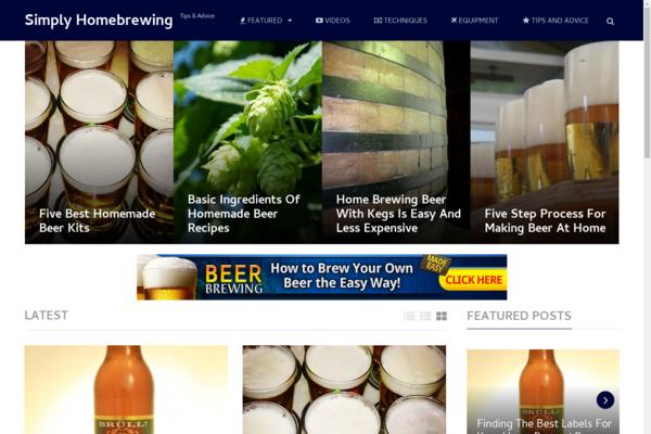 SimplyHomebrewing.com - Hot New Niche! - Homebrew Beer Blog - Potential Income! - BIN Bonuses!