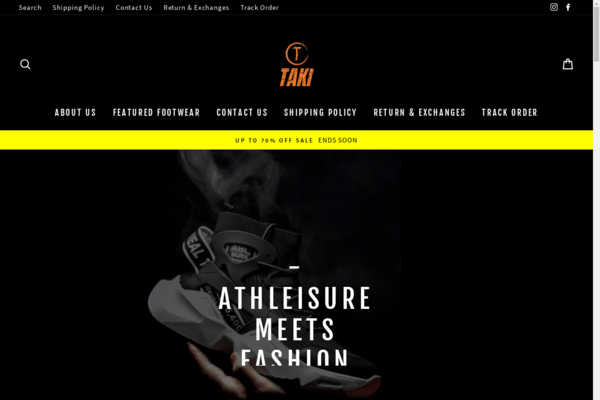 taki.shoes - Sneaker Dropshipping Store
