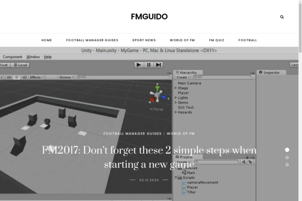 fmguido.com - Game site about football manager. Adsense $ 4 Organic Google traffic UK, US