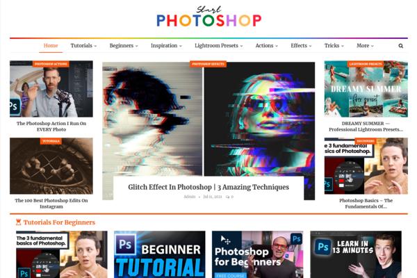 StartPhotoshop.com - Fully Automated Photoshop Blog + Free Hosting (Bonus) - Earn Upto $5k/Month