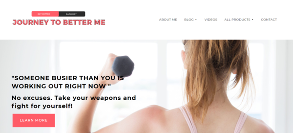 journeytobetterme.com - Starter Site for sale in the Health and Fitness industry