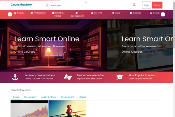 coursmastery.com - Online Courses, Books, Tutorials Sale, Saas Business