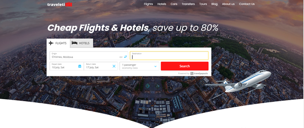 traveleti.com - Automated Travel Website, Earn Up To $10k/Mon On Flights, Hotels & Trip bookings