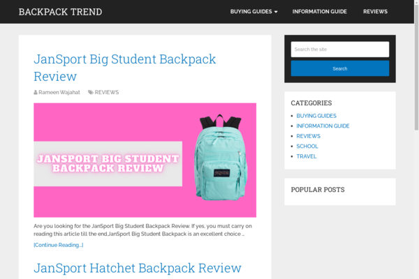 backpacktrend.com - Backpack Get's You Where You're Going